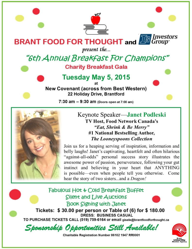 Brant Food For Thought Breakfast For Champions 2015