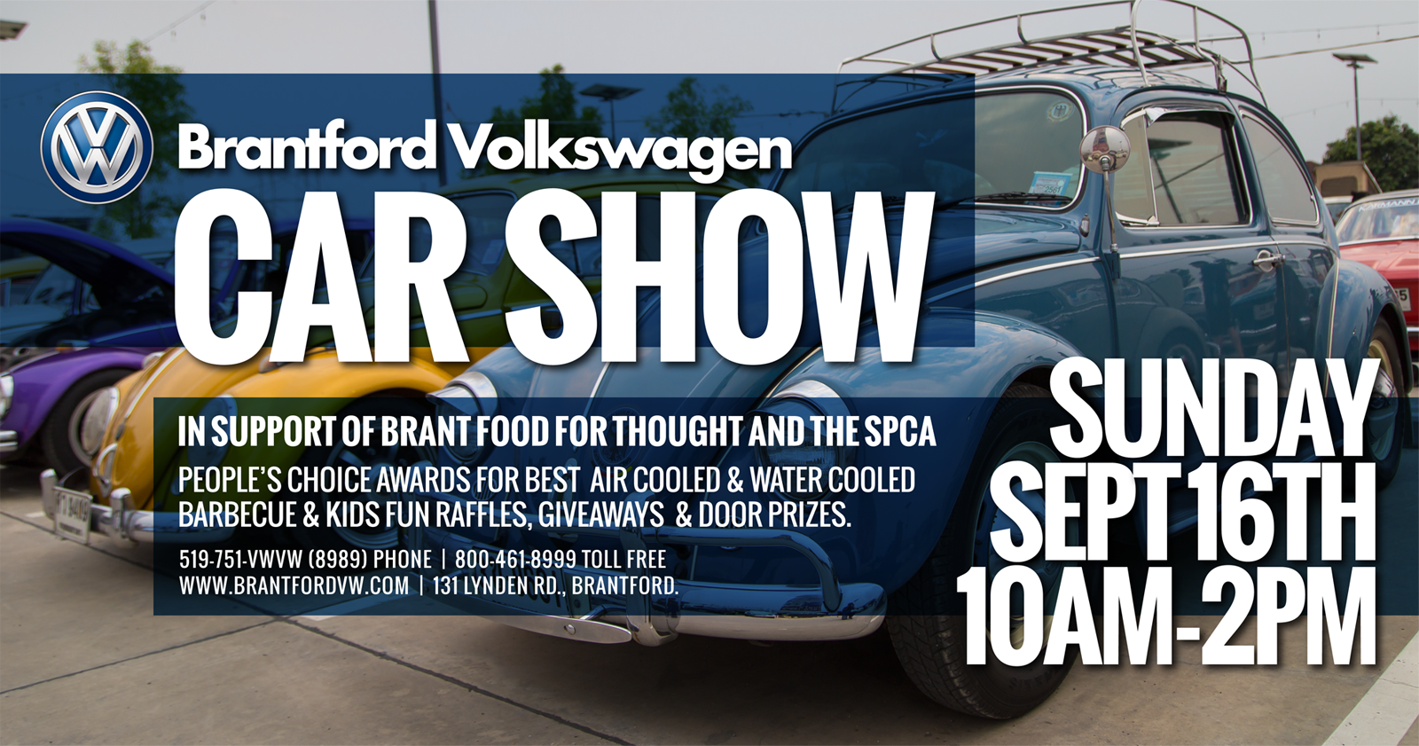 VW Car Show Supports Student Nutrition Brant Food For Thought - Car show giveaways